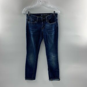 Gap Skinny Roll Up Jeans  Medium Wash Size 0/25R